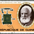 Stock Photo: GUINE- 1976: shows Alexander Graham Bell (1847-1922), telephon