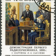 USSR - 1989: shows Aleksandr Popov (1859-1905), Inventor of Radi — Stock Photo #10566157