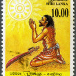 Stock Photo: SRI LANK- 1993: shows Conversion of Angulimala, murderer,