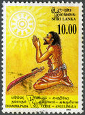 SRI LANKA - 1993: shows Conversion of Angulimala, the murderer, — Stock Photo