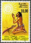 SRI LANKA - 1993: shows Conversion of Angulimala, the murderer, — Stock Photo