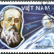 VIETNAM - 1986: shows Konstantin Tsiolkovsky - Stock Photo