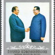 KOREA - 1977: shows Kim Il-sung and Josip Broz Tito — 图库照片