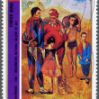 EQUATORIAL GUINEA - 1973: Pablo Picasso - The Family of Saltimbanques — Stock Photo #10651321
