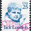US- 1986: shows Jack London (1876 - 1916), series Great Americans — Stock Photo #10661305