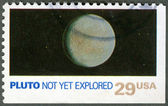 USA - 1991: shows Pluto, not yet explored — Stock Photo
