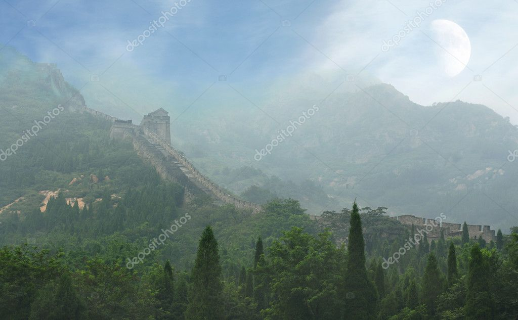 The Great Wall of China, a horizontal picture — Stock Photo #10727700