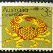 AUSTRALIA - CIRCA 1973: A stamp printed in Australia shows coral — Stock Photo