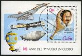 CUBA - CIRCA 1983: A post stamp printed in Cuba devoted Bicenten — Stock Photo