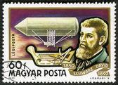 HUNGARY - CIRCA 1977: A stamp printed in Hungary, shows David Sc — Stock fotografie