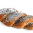 Twisted bread with poppyseed — Stock Photo