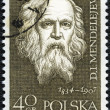 POLAND - CIRCA 1959: A stamp printed in Poland shows Dmitri Mend — Stock Photo