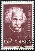 POLAND - CIRCA 1959: A stamp printed in Poland shows Albert Eins — Zdjęcie stockowe