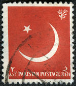 PAKISTAN - CIRCA 1956: A stamp printed in Pakistan devoted 9th A — Stock Photo