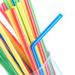 Cocktail straws in glass — Stock Photo #8504508