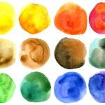 Abstract hand drawn watercolor circles — Stock Photo #8562354