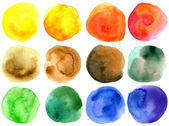 Abstract hand drawn watercolor circles — Stock Photo