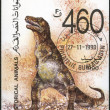 YEMEN REPUBLIC - CIRCA 1990: shows Tyrannosaurus, Prehistoric Animals — Stock Photo