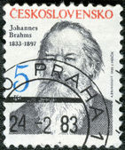 CZECHOSLOVAKIA - CIRCA 1983: shows Johannes Brahms (1833-1897) — Stock Photo