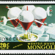 MONGOLIA - CIRCA 1977: shows Flying crane, French planned — Stock Photo