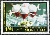 монголия - около 1977: французский запланировано шоу летающий кран — Стоковое фото