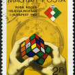 HUNGARY - CIRCA 1982: devoted First Rubik's Cube World Championship - Stock Photo