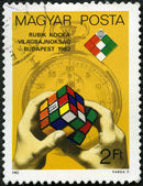 HUNGARY - CIRCA 1982: devoted First Rubik's Cube World Championship — Stock Photo
