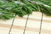 Fresh rosemary on a bamboo background — Stock Photo