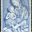 IRELAND - CIRCA 1954: shows Madonna by della Robbia, Marian Year - Stock Photo