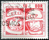 GGERMANY - CIRCA 1965: shows Pavel Belyayev and Alexei Leonov — Stock Photo