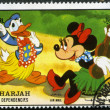 Stock Photo: SHARJAH & DEPENDENCIES - CIRC1972: shows Donald Duck and Minnie