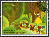 SHARJAH & DEPENDENCIES - 1972: shows Snow White and the seven dwarfs — Stock Photo