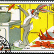 Постер, плакат: SHARJAH & DEPENDENCIES 1972: shows Bugs Bunny and Elmer Fudd