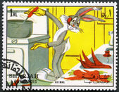SHARJAH & DEPENDENCIES - 1972: shows Bugs Bunny and Elmer Fudd — Stock Photo