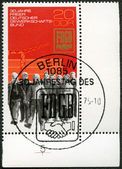 GERMANY - CIRCA 1975: shows Construction Workers, Union Emblem — Stock Photo