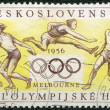 CZECHOSLOVAKIA - CIRCA 1956: devoted Summer Olympics, Melbourne - Stock Photo