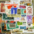 Postage stamps of the different countries — Stock Photo