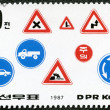 DPR KORE- 1987: shows road safety — Stock Photo #9345513