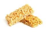 Honey bars with peanuts — Stock Photo