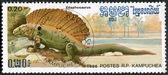 KAMPUCHEA - 1986: shows Edaphosaurus — Stock Photo