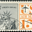 UNITED STATES OF AMERICA - 1959: shows Statue of Liberty — Stock Photo