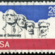 USA - 1974: shows Mount Rushmore National Memorial — Stock Photo