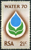 SOUTH AFRICA - 1970: shows Water Drop and Flower — Stock Photo