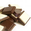 Chocolate pieces — Stock Photo #9617488