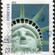 UNITED STATES OF AMERICA - 2011: shows Statue of Liberty — Stock Photo