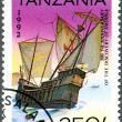 TANZANIA - 1992: shows Ship running aground, devoted to 500th an — Stock Photo