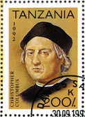 TANZANIA - 1992: shows Christopher Columbus, devoted to 500th an — Stock Photo