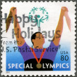 UNITED STATES - 2003: shows Athlete with medal, Special Olympics — Stock Photo