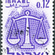 ISRAEL - 1961: shows Sign of Zodiac, Scales — Stock Photo