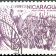 NICARAGUA - 1986: shows image of agrarian reform, Corn — Stock Photo
